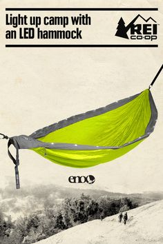 Set it up to relax in the backyard or take it on a backpacking trip. The ENO LED DoubleNest hammock has a set of integrated lights to add a festive touch. Sets up in seconds with plenty of room for 2. Shop now.