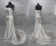 Silver prom dresses long silver dress metallic silver by okbridal, $128.00