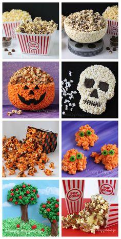 , White Chocolate Popcorn Jack-O-Lantern Bowl, Popcorn Skull, Cookies ...