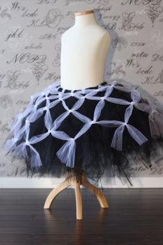 Black and White Spider Web Tulle Tutu Dress Skirt Halloween Costume Custom Flower Girl Bridal Dress-Up Wedding Adult via Etsy