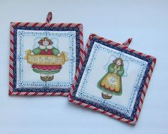 Joy to the World and Pray for Peace Set of Two by QuiltingGranny