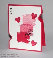 Thank You Hearts Card - Stamp Up a Storm