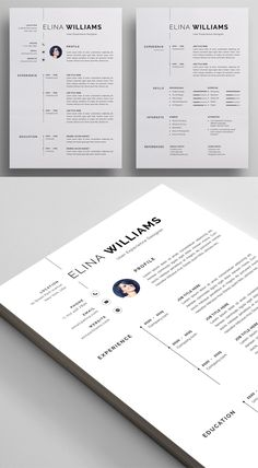 Creative Impressive Resume / CV Template Designs to get your future job. All resume templates are elegance with a modern design and well structured and very Modern Resume Template, Cv Template, Resume Templates, Graphic Design Blog, Graphic Design Templates, Letterhead Design, Resume Design, Cover Letter For Resume, Cover Letter Template