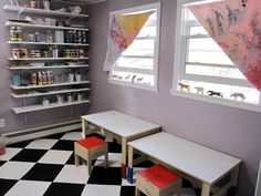 Kids craft studio space and interview about kid friendly spaces