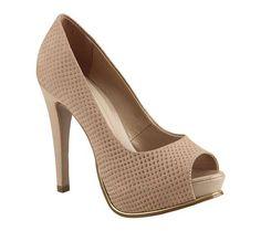 Sapato peep toe em couro fish skin | Sapatos | Bottero Calçados