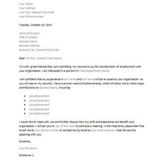 How to Compose a JobWinning Cover Letter Cover letter example