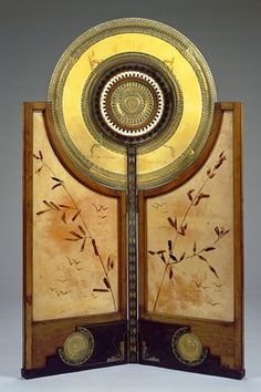 Carlo Bugatti (Italian, 1856-1940), Two Fold Screen, vellum/ivory/wood, c. 1898 Screen lust!!