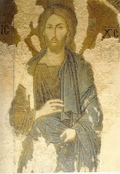 Christ of Chora Monastery, Constantinople, Greek Orthodox Icon Religious Images, Religious Icons, Religious Art, Byzantine Icons, Byzantine Art, Anima Christi, Christ Pantocrator, Art Through The Ages, Catholic Art