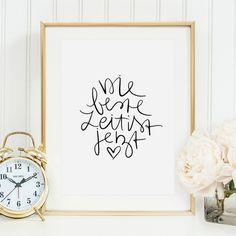 Digitaldruck - Poster, Kunstdruck: Die beste Zeit ist jetzt - ein Designerstück von Tales-by-Jen bei DaWanda