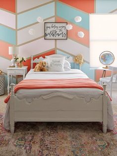 Blue Bedroom Decor, Bedroom Orange, Diy Home Decor Bedroom, Modern Bedroom, Kids Bedroom, Kids Rooms, Bedroom Ideas, Master Bedroom, Room Kids