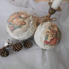 tinuszDecorArt / Vianočné gule vintage