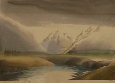 Artist: Toni Onley, Title: Khumtzeymateen River, B.C. - click to close window
