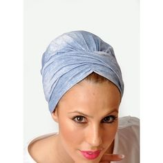 Rinati Lakel Kalyana Turban Tichel Printed in Shiny Lycra ($38) ❤ liked on Polyvore featuring accessories, hair accessories, blue, tie head scarf, head wrap scarf, hair scarf, turban head scarves and tying head scarves