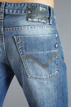 Con nosotros encuentras la mayor variedad de #jeans en #Puebla. Leather Label, Reiss, Pocket Detail, Blue Denim, Denim Jeans, Indigo, Mens Fashion, Pj, Silver Plate