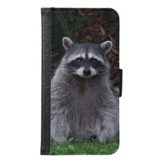 Forest Raccoon Photo Samsung Galaxy S6 Wallet Case - animal gift ideas animals and pets diy customize