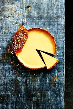 Tamarind & Lemon Tart with Salted Peanut Praline  #dessert #cake #sweets #pie #tart #デザート #ケーキ #スイーツ #パイ #タルト