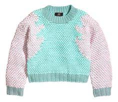 Minju Kim x HM | jacquard or Intarsia sweater with mint & pale pink