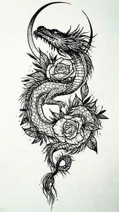 Dragon Tattoo For Women, Dragon Tattoo Designs, Tattoo Designs Men, Tattoo Design Drawings, Tattoo Sketches, Badass Tattoos, Cool Tattoos, Best Arm Tattoos, Men's Forearm Tattoos