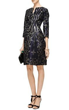 Metallic-Jacquard Dress by Oscar de la Renta Now Available on   Had2B@100% MO  Moda Operandi