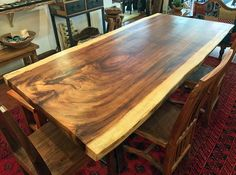 Natural or Live Edge, extra large or jumbo, exotic Parota wood slab for dining or conference table top large kitchen island top.