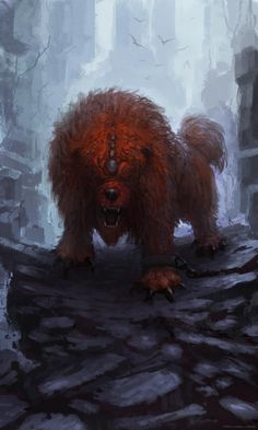 Monster of the Day: Beast by Monster Book Of Monsters, Monster Art, Creature Concept Art, Creature Design, High Fantasy, Fantasy World, Fantasy Creatures, Mythical Creatures, Lion Dog