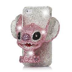 3D #Stitch Rhinestone Hard Case for #iPhone4 4S