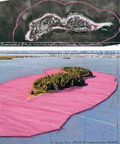 Cristo & Jeanne Claude_Surrounded Islands (Project for Biscayne Bay, Greater Miami, Florida)