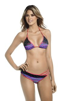 Mar de Rosas 2016  Mar de Gaviota Bikini - Feast your eyes on this unique handmade bikini from Mar de Rosas new 2016 collection. This luxury bikini: Mar de Gaviota is designed with Mar de Rosas original one of a kind print. #designerswimwear