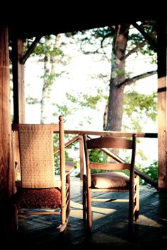 A porch with a few rocking chairs to share with a friend, some wine and cheese...What could be better?