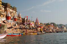 Panorama of Varanasi Ghats