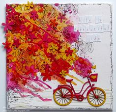Life is beautiful Eye Products, 3rd Eye, Life Is Beautiful, Stencils, Mixed Media, Canvas Art, Creativity, Bicycle, Stamp