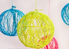 One of my favorite DIY projects.... balloons, string and mod podge and you have an amazing decoration