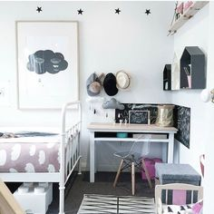Kids Workspaces Inspo and Image Regram thanks to Claire @thefranklife_ based in Australia. A beautiful workspace nook within a bedroom created here by Stylist Claire @thefranklife_. We love that strip of blackboard paint and how gorgeous is the styling! Thanks Claire we love your kids workspace style! by theworkspacestylist