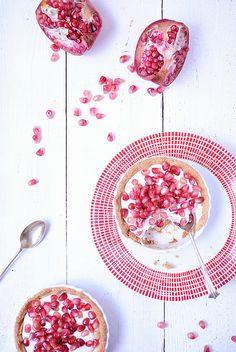 Granatapfel Tartelettes mit Ziegenkäsecreme