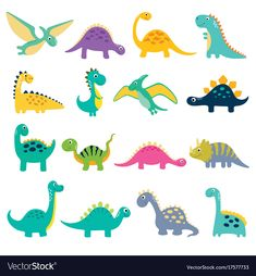 Find Funny Cartoon Dinosaurs Collection Vector Illustration stock images in HD and millions of other royalty-free stock photos, illustrations and vectors in the Shutterstock collection. Thousands of new, high-quality pictures added every day. Dinosaur Puzzles, Dinosaur Printables, Dinosaur Crafts, Dinosaur Art, Dinosaur Toys, Cute Dinosaur, Dinosaur Drawing, Cartoon Dinosaur, Dinosaur Illustration