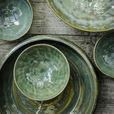 Pure tableware by Pascale Naessens for Serax + Sea Green Ceramic Clay, Ceramic Plates, Ceramic Pottery, Pottery Plates, Slab Pottery, Earthenware, Stoneware, Pottery Designs, Handmade Pottery