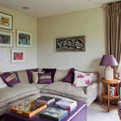 Espacios interiores con toques violeta | Ideas para decorar, diseñar y mejorar tu casa.