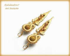 Soutache earrings elegant unusual and perfect for por rododendron7