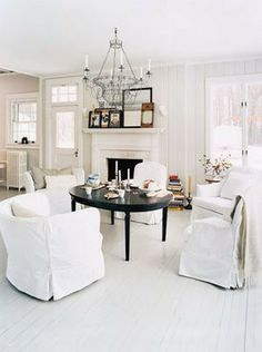 The vibe I'm going for in the living room - black and white (with some accent colors sprinkled in).