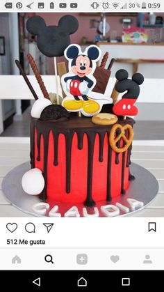 Y bb me http oí Lu lo a msi Mickey Mouse Birthday Theme, Mickey Mouse Clubhouse Party, Baby Birthday Cakes, Mickey Mouse Parties, Baby Boy Cakes, Mickey Party, Disney Parties, 2nd Birthday, Bolo Mickey