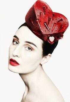Heart shaped hat #fashion #hats