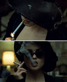 """Marla Singer in """"Fight Club"""" (David Fincher) Tim Burton Johnny Depp, Fight Club 1999, Marla Singer, Helena Bonham Carter, Penny Dreadful, Film Strip, Music People, Famous Faces, Great Movies"""