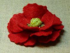 tuto fleur en feutrine