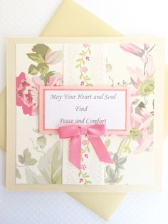 Heart And Soul Sympathy Card