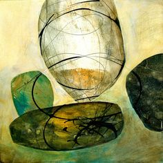collage journeys: mixed media shapes by Jane Davies