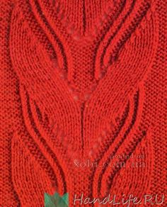 Подборка ажурных узоров спицами / Вязание