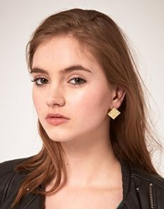Lego øreringe Enlarge ASOS Brick Stud Earrings