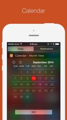 #iOS8 #notificationcenterwidgets #todayextension