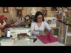 Touca facil com elastico - YouTube Youtube, Sewing, Internet, Montessori, Diy, Kitchen Fabric, Altered Clothes, Scrub Hats, Aprons