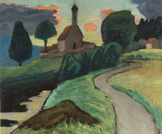 'Murnau church at the Ramsach', 1935 - Gabriele Münter